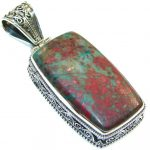 Special! Red Sonora Jasper Sterling Silver Pendant