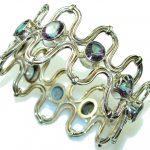 Aura Of Beauty!! Rainbow Magic Topaz Sterling Silver Bracelet