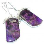 Beautiful!! Purple Charoite Sterling Silver earrings