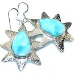 Summer Time!! Light Blue Larimar Sterling Silver earrings