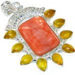 Scarlet Crown!! Australian Mookaite Sterling Silver Pendant