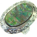 Island Dream!! Ammolite Sterling Silver ring s. 10