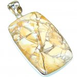 Big! Inca Dream!! Burro Creek Jasper Sterling Silver Pendant