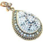 Secret!! White Topaz Sterling Silver pendant