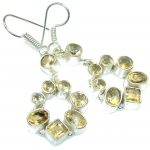 Awesome! Yellow Citrine Sterling Silver earrings