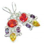 Summer Time!! Multicolor Quartz Sterling Silver earrings