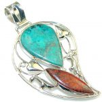 Excellent!! Red Sonora Jasper Sterling Silver Pendant