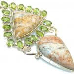 Awesome Montana Agate Sterling Silver Pendant