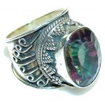 Secrte!! Rainbow Magic Topaz Sterling Silver Ring s. 9