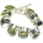 Amazing!! Yellow Citrine Sterling Silver Bracelet