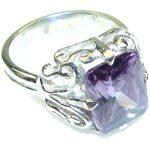 Lavender Love! Lilac Quartz Sterling Silver Ring s. 8