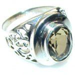 Amazing!! Smoky Topaz Sterling Silver ring s. 9 1/2