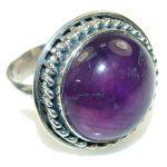 Secret!! Purple Amethyst Sterling Silver Ring s. 8