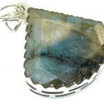 Beauty!! Blue Labradorite Sterling Silver Pendant
