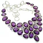 Expressions!! Created Alexandrite Quartz Sterling Silver necklace