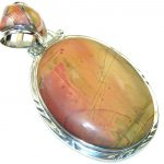 Fabulous Design Red Creek Jasper Sterling Silver Pendant