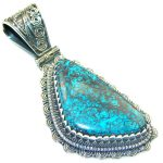 Amazing Blue Azurite Sterling Silver Pendant