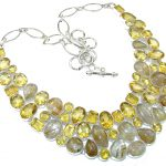 Love Attraction!! Golden Rutilated Quartz Sterling Silver necklace