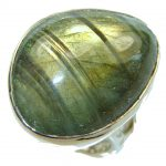 Green Island!! Labradorite Sterling Silver Ring s. 7 – Adjustable