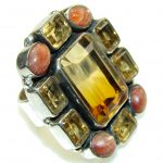 Large! Stunning Color Changing Quartz Sterling Silver Ring s. 10