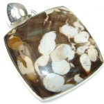 Fabulous Brown Nugget Jasper Sterling Silver Pendant