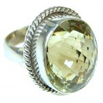 Love And Appreciation!! Yellow Citrine Sterling Silver Ring s. 7 1/2