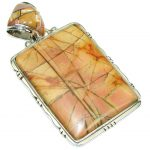 Big! Exclusive! Red Creek Jasper Sterling Silver Pendant
