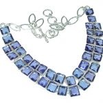 Goth Love!! Created Tanzanite Sterling Silver necklace