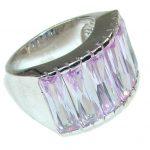 Delicate! Light Lilac Quartz Sterling Silver Ring s. 6