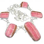 Natural Beauty! AAA Rhodochrosite Sterling Silver necklace