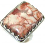 Beautiful!! Pietriefied Wood Sterling Silver Ring s. 9