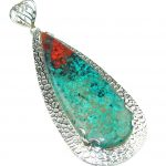 Large! Love Attraction! Red Sonora Jasper Sterling Silver Pendant