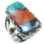 Excellent Red Sonora Jasper, Garnet Sterling Silver ring s. 6 1/4