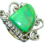 Green Island! Turquoise Sterling Silver ring s. 9