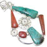 Big! Excellent Red Sonora Jasper Sterling Silver Pendant