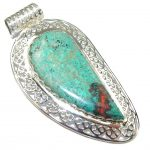 Big! Fantastic AAA Red Sonora Jasper Sterling Silver Pendant