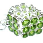 Green Secret! Created Peridot Sterling Silver Bracelet