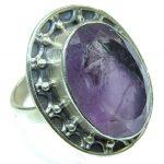 Simple Beauty! Purple Amethyst Sterling Silver Ring s. 8 1/4
