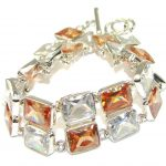 Light Of Love! Cubic Zirconia Sterling Silver Bracelet