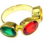 Stunning Citrine 18K Gold Plated Sterling Silver Ring s. 6 1/2