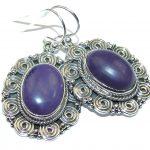 Amazing Purple Turquoise Sterling Silver earrings