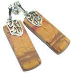 Exclusive! AAA Red Creek Jasper Sterling Silver Earrings