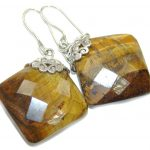 Amazing! AAA Tigers Eye Sterling Silver Earrings