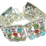 Aura Of Beauty! Multigem Sterling Silver Bracelet