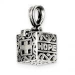 Sterling Silver Faith & Hope Prayer Box Pendant