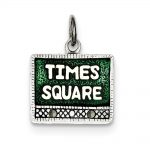Sterling Silver Times Square Charm