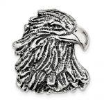 Sterling Silver Antiqued Eagle Head Pendant