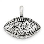 Sterling Silver Antiqued Football Pendant