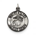 Sterling Silver US Marine Corp Medal