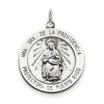 Sterling Silver Antiqued De La Providencia Medal